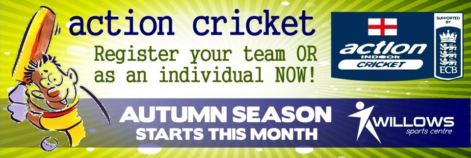Action Cricket Autumn Web Banner