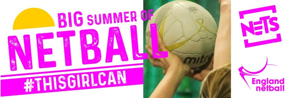 Big Summer of Netball Web Banner