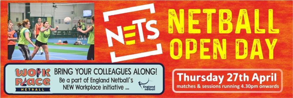 Netball Open Day Web Banner